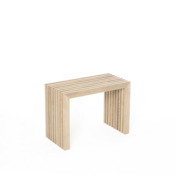 Holzbank Eichenlamellen natur