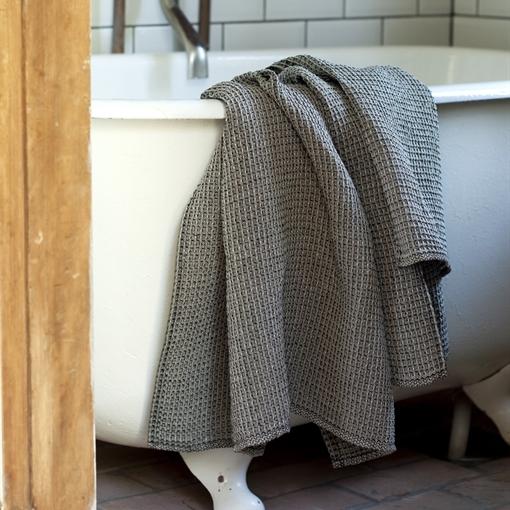 Leinen-Handtuch Bio-Leinen schwarz